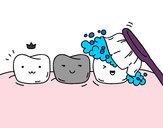 Desenho Os dentes pintado por Mile123