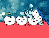 Desenho Os dentes pintado por luck1