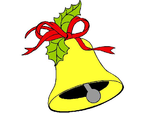 Desenho De Sino De Natal Pintado E Colorido Por Kakaevento