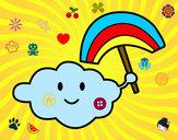Desenho Nuvem com arco-íris pintado por RAFAELMOTA