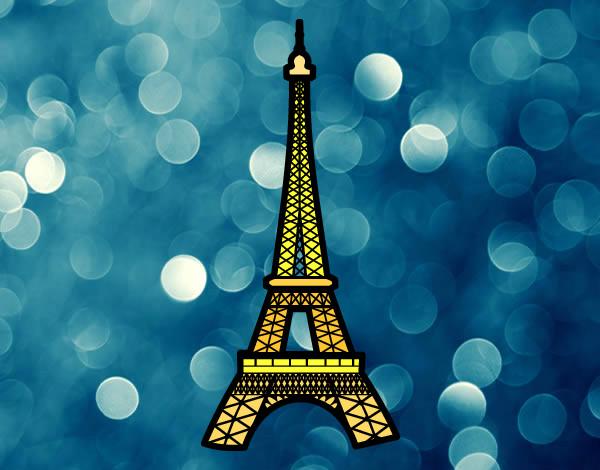 Desenho De Torre Eiffel Pintado E Colorido Por Imshampoo O