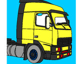 Desenho Camião 5 pintado por luzinda