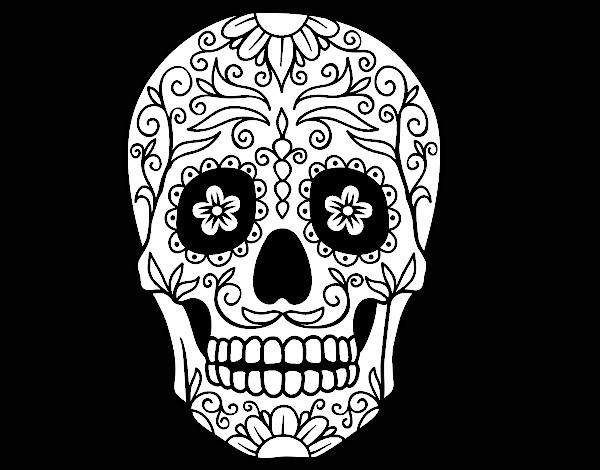 Desenho de Caveira mexicana pintado e colorido por Usuario nao ...
