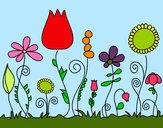 Desenho Flores da floresta pintado por acristina