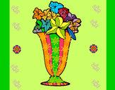 Desenho Jarro de flores 2a pintado por eliklay