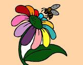 Desenho Margarida com abelha pintado por acristina