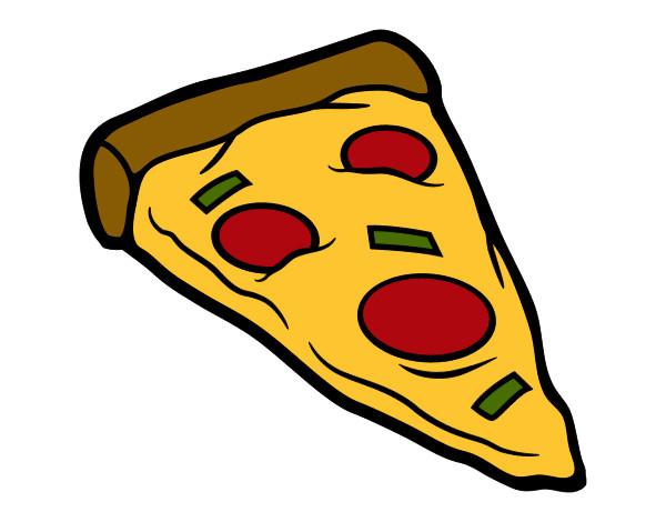 desenho de ração de pizza pintado e colorido por carolcini o dia 27