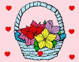 Desenho Cesta de flores 2 pintado por luzinda
