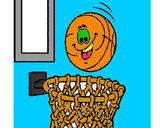 Desenho Bola e cesto pintado por creuza