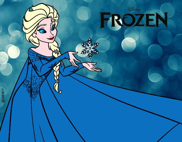 Desenho De Frozen Elsa Pintado E Colorido Por Joao0202 O