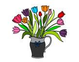 Desenho Jarro de tulipa pintado por Chocante