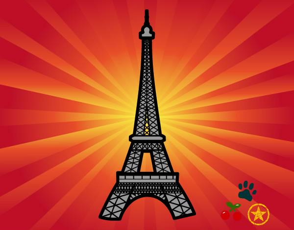 Desenho De Torre Eiffel Pintado E Colorido Por Francarol O