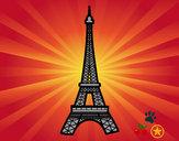 Desenho Torre Eiffel pintado por francarol