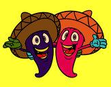 Desenho Pimentos mexicanos pintado por missmirim