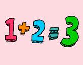 Desenho 1+2=3 pintado por daniela200