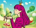 Desenho A princesa e da rã pintado por MelissaSO