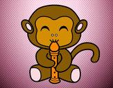 Desenho Macaco flautista pintado por daniela200