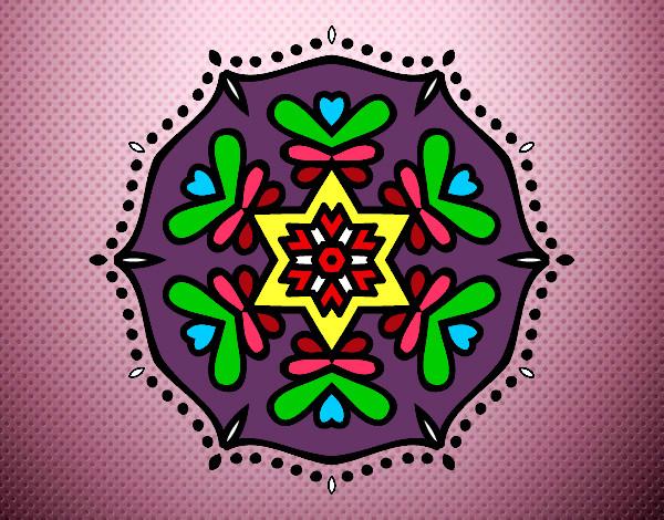 desenho de mandala pintado e colorido por ingridreis o dia sukarame
