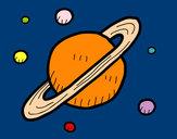 Desenho Satélites de Saturno pintado por daniela200