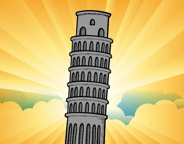 Desenho De A Torre De Pisa Pintado E Colorido Por Daniel12