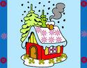 Desenho Casa na neve pintado por GASBI