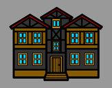 Desenho Casas pintado por vitorcely
