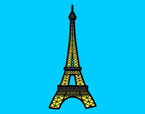 Torre Ifel En Dibujo: Desenho De Torre Eiffel Pintado E Colorido Por Vitorcely O