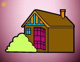 Desenho Casa moderna pintado por MelissaSO