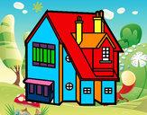 Desenho Casa unifamiliar pintado por NAGIB