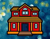 Desenho Casa vitoriana pintado por Apolo