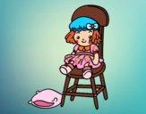 Desenho Boneca sentada pintado por saralee