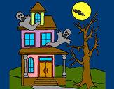Desenho Casa do terror pintado por vickk