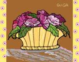 Desenho Cesta de flores 9 pintado por amauri