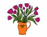 Desenho Jarro de tulipa pintado por rorie