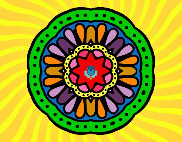 Desenho De Mandala Mosaico Pintado E Colorido Por Mvb1972