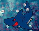 Desenho Tubarão furioso pintado por eduardobar