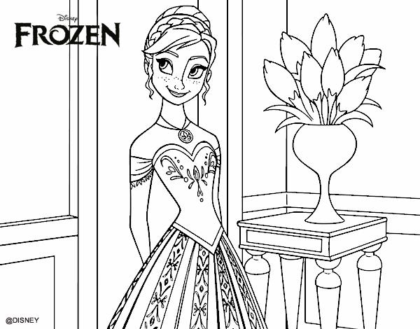 Desenho De Frozen Princesa Anna Pintado E Colorido Por