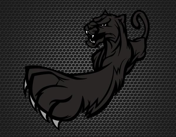 desenho de pantera negra pintado e colorido por usuário não