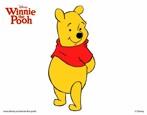 urso pooh para colorir online