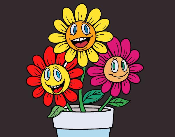 desenho de florzinhas pintado e colorido por usuário não registrado