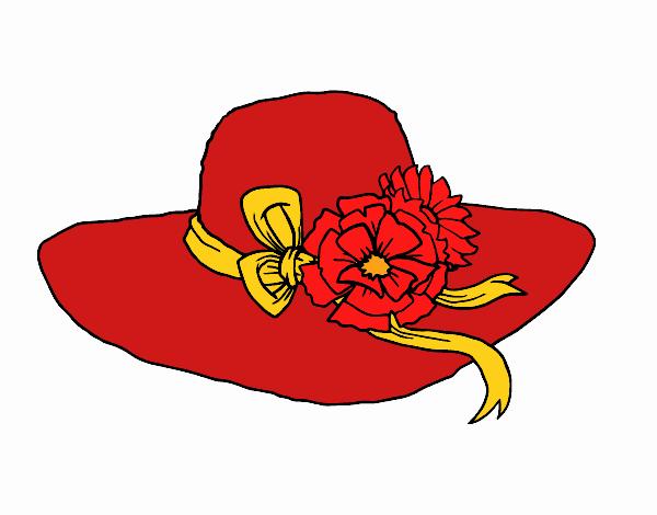 Desenho de Chapéu por flores pintado e colorido por Danielli22 o dia 05 de  Maio do 2015 04d1df2d156