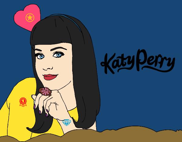 desenho de katy perry pintado e colorido por usuário não registrado