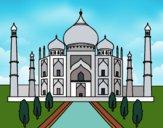 Desenho O Taj Mahal pintado por Claupulzi