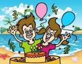 Aniversário os irmãos