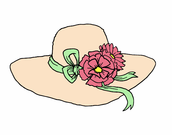 Desenho de Chapéu por flores pintado e colorido por Danyxavier o dia 22 de  Maio do 2015 ac9f48c631e
