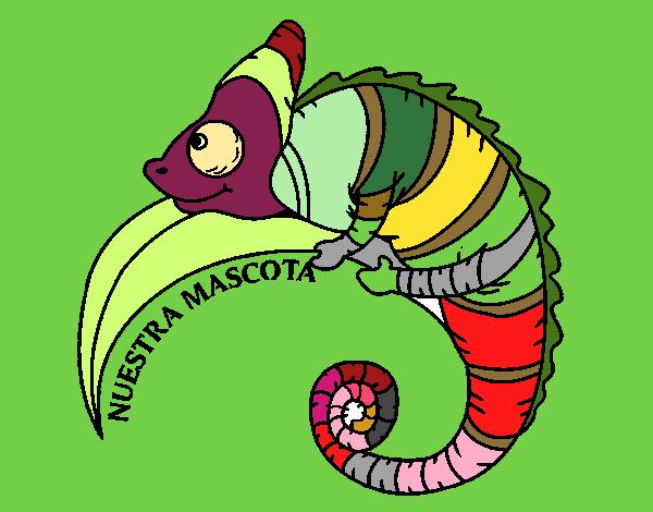 desenho de camaleão pintado e colorido por usuário não registrado o