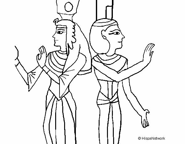 Desenho De Pintura Da Rainha Nefertari Pintado E Colorido