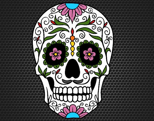 Desenho de Caveira mexicana para Colorir - Colorir.com