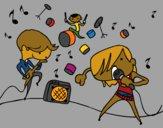 Desenho Grupo musical pintado por lucdan