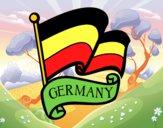 Desenho Bandeira da Alemanha pintado por lucdan